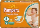 Pampers Sleep&Play Pleny 5 Maxi - 42 ks