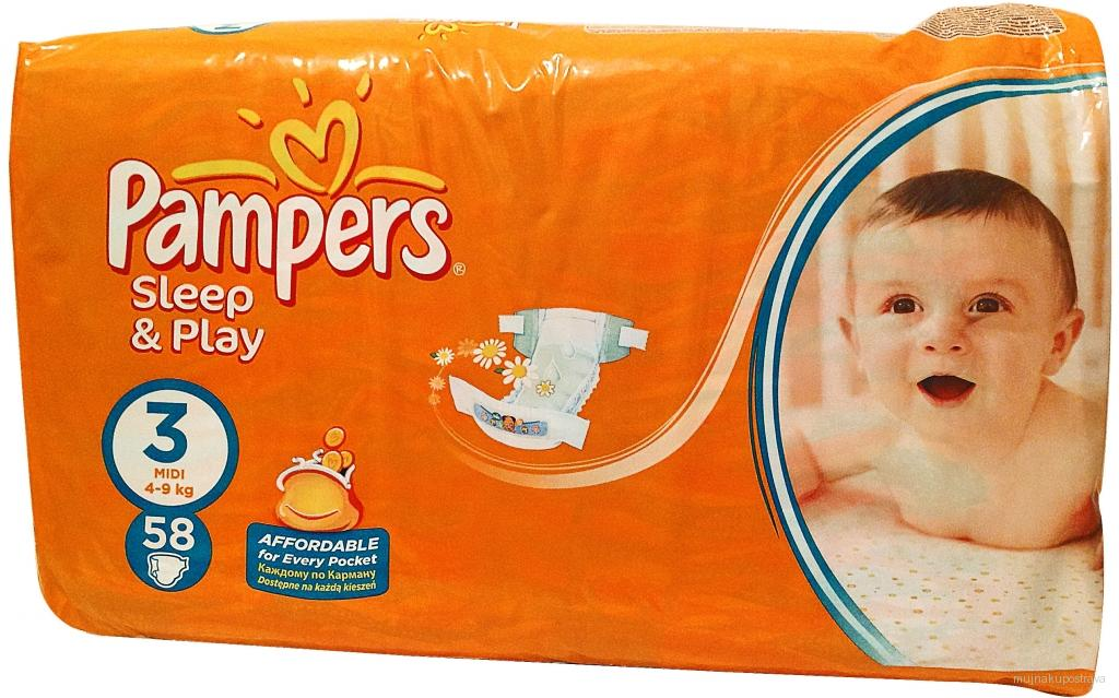 Pampers Sleep&Play Pleny 3 Midi 58 ks