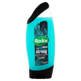 Radox Men Feel strong mint & tea tree 2v1 pánský sprchový gel a šampon 250ml