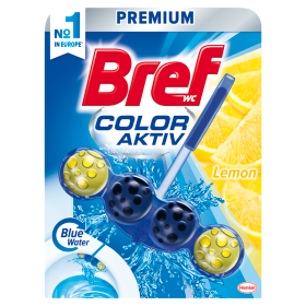 Bref Color Aktiv Lemon tuhý WC blok 50g