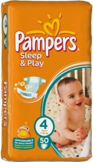 Pampers Sleep&Play Pleny 4 Maxi - 50 ks