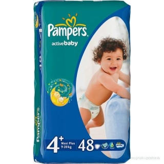 Pampers Active Baby Pleny  Maxi plus - 45 ks