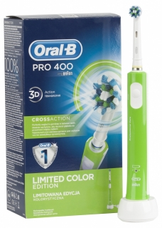 Oral-B Pro 400 Cross Action Green Box