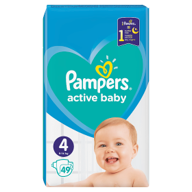 Pampers Active Baby Pleny  4 - 49 ks
