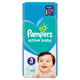 Pampers Active Baby Pleny  3 - 58 ks